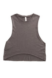 fabulous people women's crop muscle tee (grey)