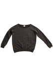 fabulous people solid off-the-shoulder sweatshirt (charcoal grey)