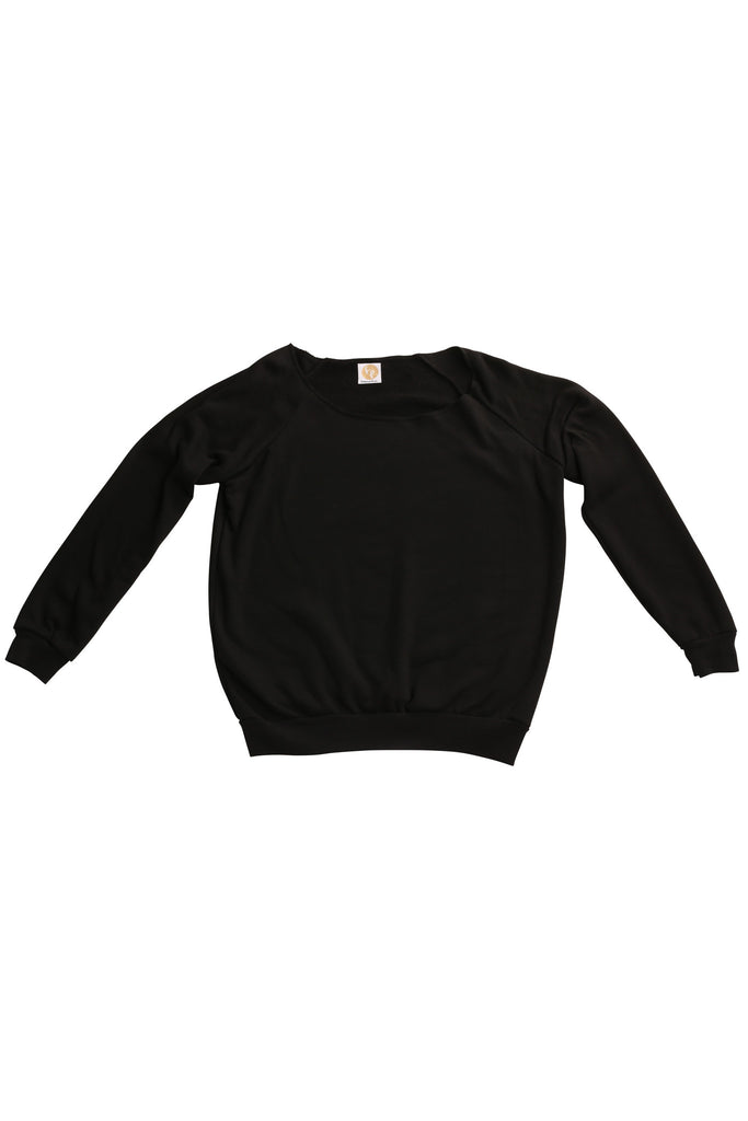 fabulous people solid off-the-shoulder sweatshirt (black)