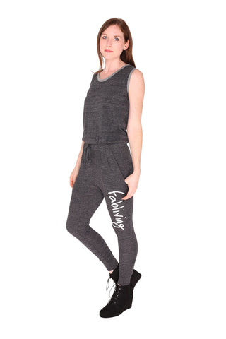 fabliving eco-jersey romper (eco black/white)