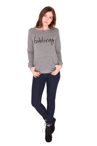 fabliving cozy off-the-shoulder (eco grey/black)