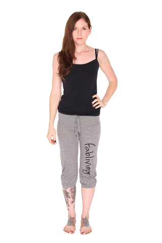 fabliving eco-jersey crop pant (eco grey/black)
