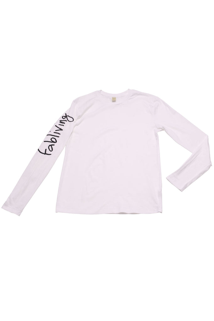 FP fabliving cotton long sleeve tee (white/black)
