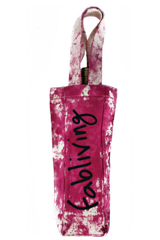 FP fabliving single bottle canvas wine tote (wino)