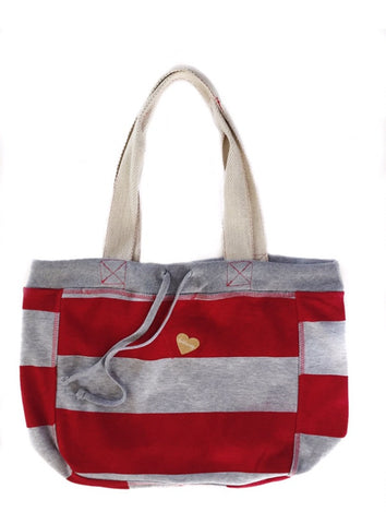 FP fabliving fleece beach bag (heather/red)