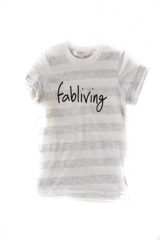 FP kids fabliving tee (white/black)