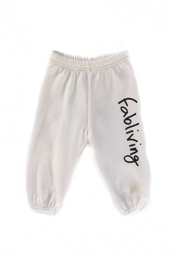 FP kids fabliving fleece pant (white/black)