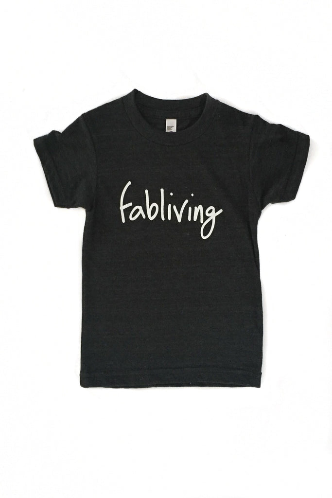 FP kids fabliving tee (charcoal grey/white)
