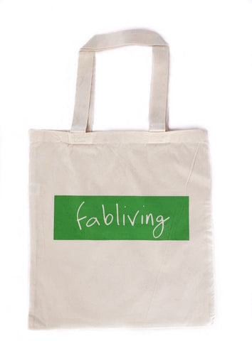FP fabliving market tote (natural/greenery)