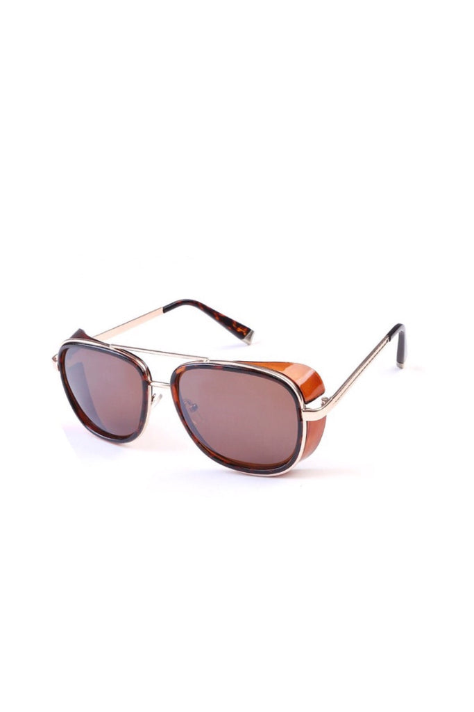 FP fabulous gold + tortoise aviator sunglasses (brown/brown)