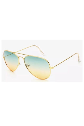 FP fabulous aviator sunglasses (gold/green tea)