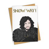 Snow Way Card
