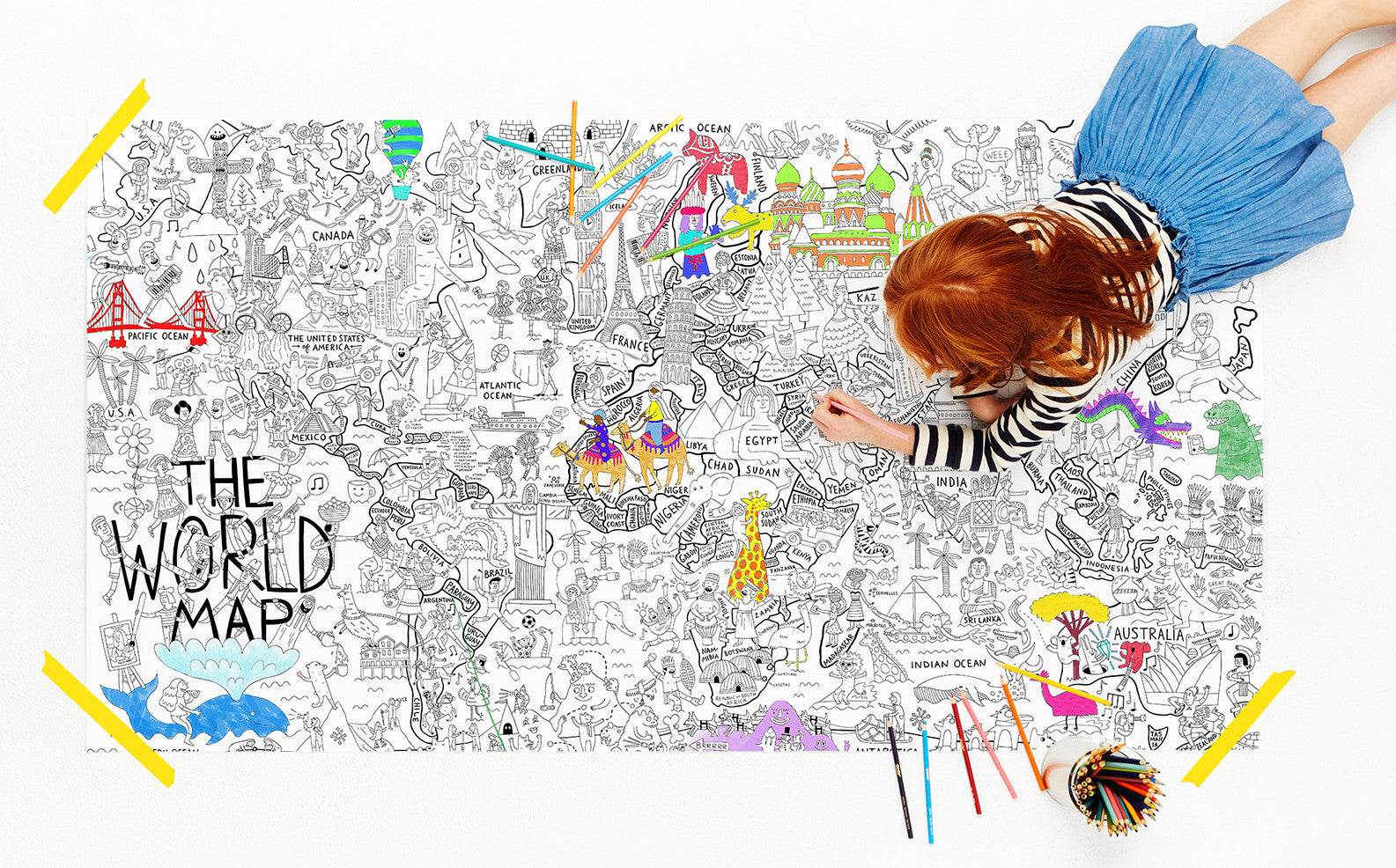 what a colorful world map coloring poster u2013 wander