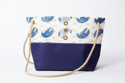 Gold & Navy Claw Bait Bag Tote