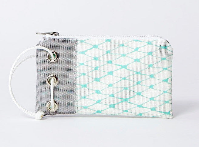 Robin's Egg & Grey Bait Bag Wristlet