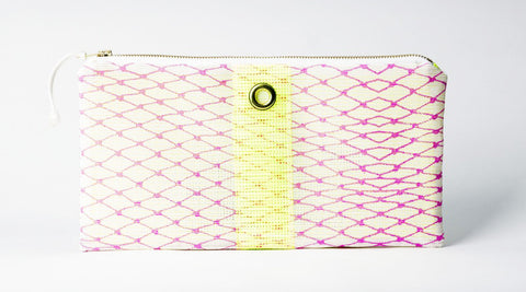 Pink & Yellow Bait Bag Clutch