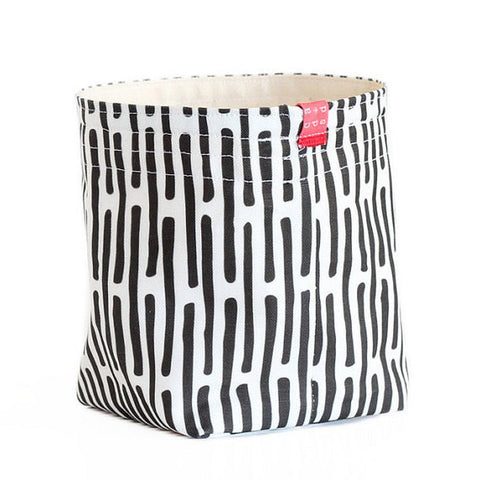 Broken Stripe Fabric Bucket
