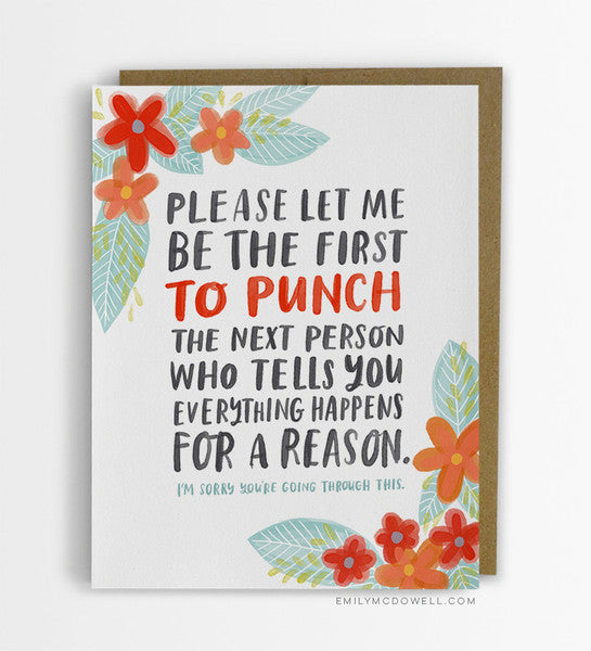 Everything Happens for a Reason Card