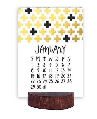 2017 Letterpress Stump Calendar