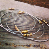 Karma Recycled Guitar String Bangle