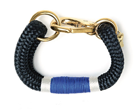 Kennebunkport Navy, Cobalt & White Rope Bracelet