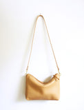 Leather Cross Body Bag - Tan