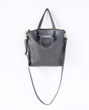 Mini Leather Day Bag - Gray