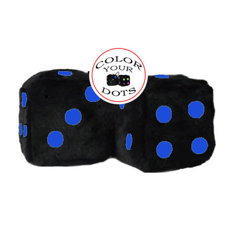 3 Inch Black Fuzzy Dice