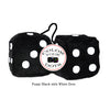 3 Inch Black Fuzzy Dice with White Dots