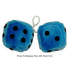 4 Inch Bubblegum Blue Furry Dice with Black Dots