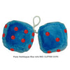 4 Inch Bubblegum Blue Furry Dice with RED GLITTER DOTS