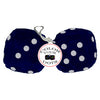 3 Inch Dark Blue Furry Dice