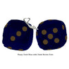 3 Inch Dark Blue Furry Dice with Dark Brown Dots