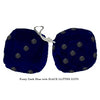 3 Inch Dark Blue Furry Dice with BLACK GLITTER DOTS