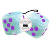 4 Inch Light Blue Plush Dice