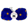 4 Inch Royal Navy Blue Fuzzy Dice