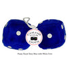 4 Inch Royal Navy Blue Fuzzy Dice with White Dots