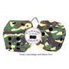 4 Inch Camouflage Fuzzy Dice with Black Dots