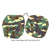 3 Inch Camouflage Fuzzy Dice with Dark Brown Dots
