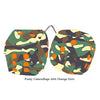 4 Inch Camouflage Fuzzy Dice with Orange Dots