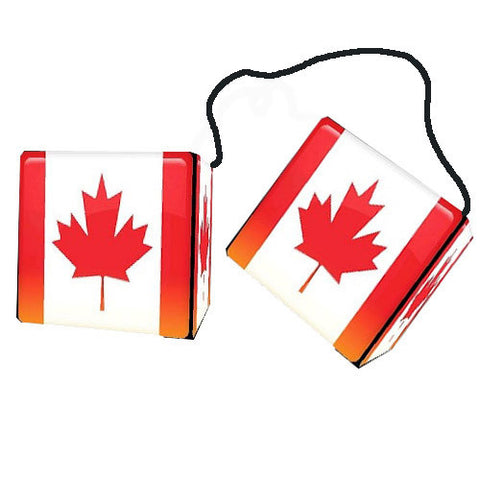 3 Inch Canadian Flag Dice