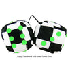 3 Inch Checkered Fuzzy Dice with Lime Green Dots