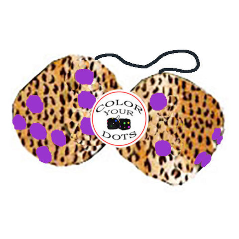 3 Inch Cheetah Fuzzy Dice