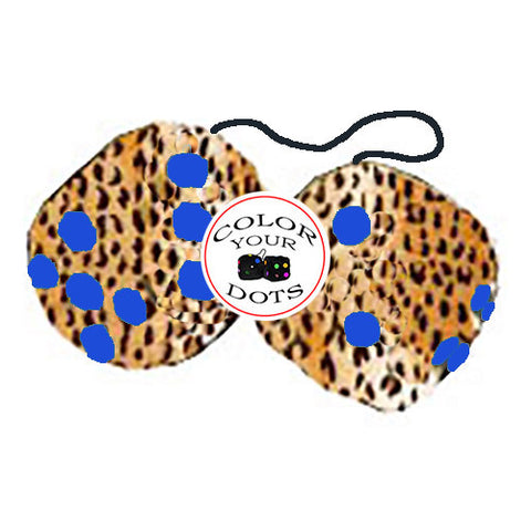 4 Inch Cheetah Fuzzy Dice