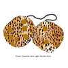 3 Inch Cheetah Fuzzy Dice with Light Brown Dots