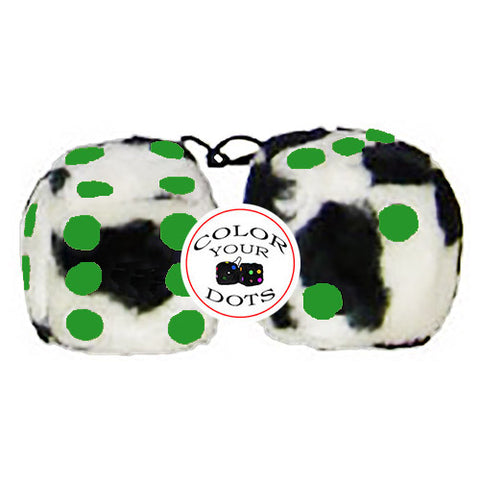 4 Inch Cow Fluffy Dice