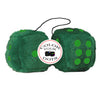 4 Inch Dark Green Fluffy Dice