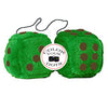 4 Inch Emerald Green Plush Dice