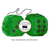 4 Inch Emerald Green Plush Dice with Black Dots