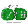 4 Inch Emerald Green Plush Dice with Grey Dots